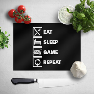 Eat Sleep Game Repeat Chopping Board