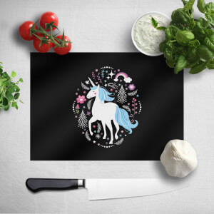Blue Unicorn Chopping Board