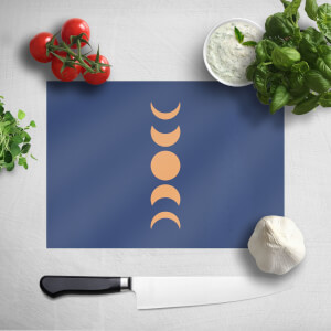 Pressed Flowers Abstract Moon Phase Chopping Board