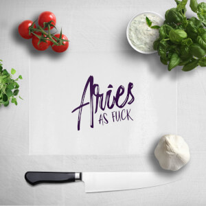 Pressed Flowers Aries As Fuck Chopping Board