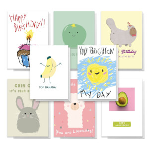 Bright Pack Of Greetings Cards