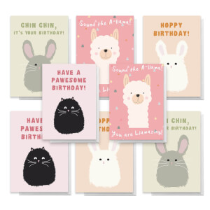 Cuddly Animals Pack Of Greetings Cards