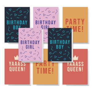 Slogan Pack Of Greetings Cards