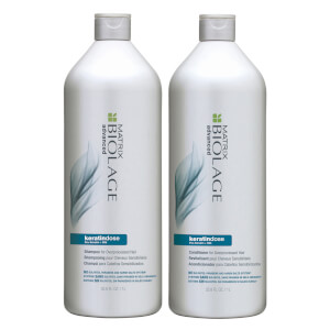 Biolage KeratinDose Shampoo and Conditioner Bundle 2 x 1000ml
