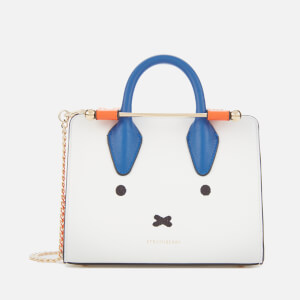 Strathberry X Miffy Women's Face Nano Tote Bag - White/Cobalt/Maple