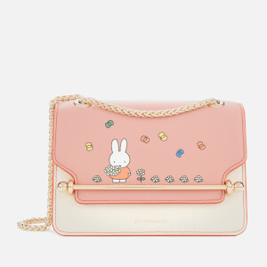 Strathberry X Miffy Women's Flower East/West Mini Bag - Rose/Vanilla