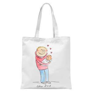 New Dad... Tote Bag - White