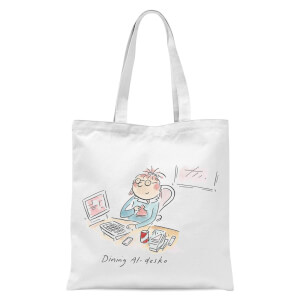 Dining Al Desko Tote Bag - White