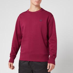 Acne Studios Men's Fairview Face Sweatshirt - Dark Pink