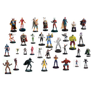 Eaglemoss Marvel Ultimate Collector's Set of 10 Figures (Set 1) - with 16-page Magazine