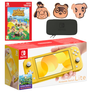 Nintendo Switch Lite (Yellow) Animal Crossing: New Horizons - Digital Download Pack