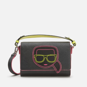 Karl Lagerfeld Women's K/Ikonik Neon Cross Body Bag - Black