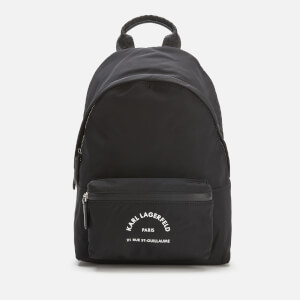 Karl Lagerfeld Women's Rue ST Guillaume Medium Backpack - Black