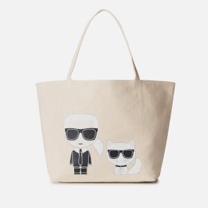 Karl Lagerfeld Women's K/Ikonik Karl and Choupette Tote Bag - Natural