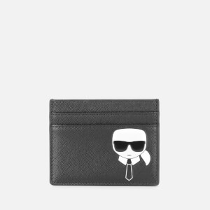 Karl Lagerfeld Women's K/Ikonik Classic Card Holder - Black