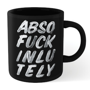 The Motivated Type Absofuckinlutely Mug - Black