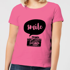 The Motivated Type Smile For The Camera Women's T-Shirt - Pink