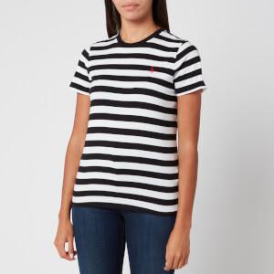Polo Ralph Lauren Women's Stripe Short Sleeve T-Shirt - White/Polo Black