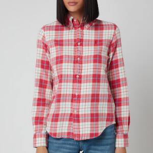 Polo Ralph Lauren Women's Georgia Long Sleeve Shirt - Faded Red/Cream Plaid