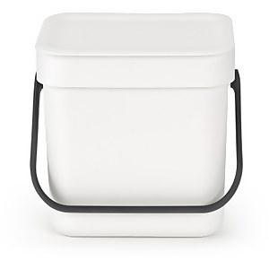 Brabantia Sort & Go 3 Litre Waste Bin - White