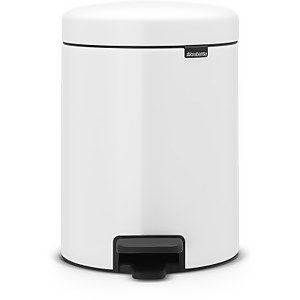 Brabantia New Icon Pedal Recycling Bin - 2 x 2 Litre - White