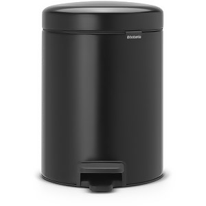 Brabantia New Icon Pedal Recycling Bin - 2 x 2 Litre - Matt Black