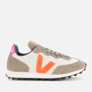 Veja Women's Riobranco Hexamesh Trainers - Gravel/Orange/Ultraviolet