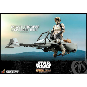 Hot Toys Star Wars The Mandalorian Action Figure 1/6 Scout Trooper and Speeder Bike 30 cm