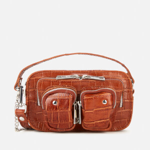 Núnoo Women's Helena Croco Cross Body Bag - Cognac