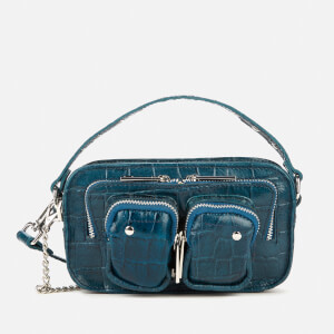 Núnoo Women's Helena Croco Cross Body Bag - Navy