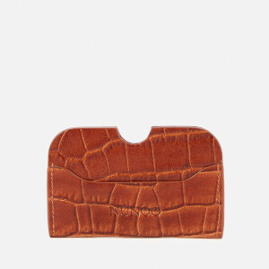 Núnoo Women's Carla Croco Card Holder - Cognac