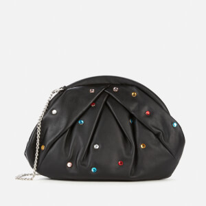 Núnoo Women's Saki Multi Stones Clutch Bag - Black