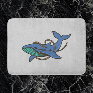 Sea Blue Whale Bath Mat