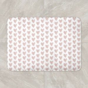 Pink Hearts Bath Mat