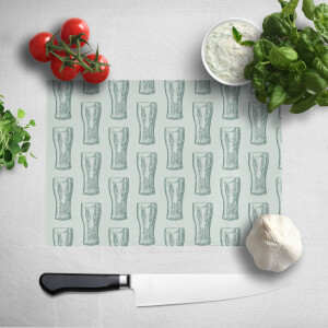 Beer Glass Pattern Chopping Board