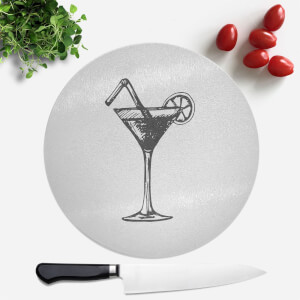 Beach Cocktail Round Chopping Board
