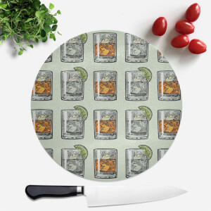 Whisky And Vodka Round Chopping Board