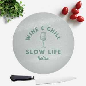 Wine And Chill Round Chopping Board