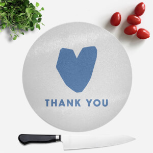 Blue Heart Thank You Round Chopping Board