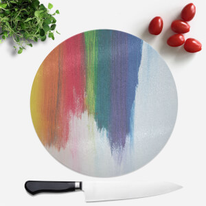 Rainbow Smudge Round Chopping Board