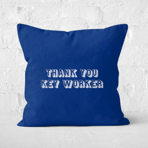 Thank You Key Worker Square Cushion