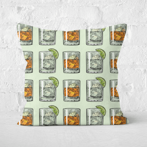Whisky And Vodka Square Cushion
