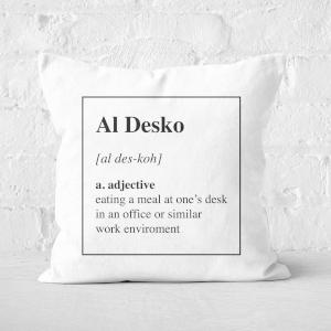 Al Desko Definition Square Cushion
