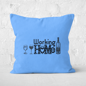 Working From Home Square Cushion