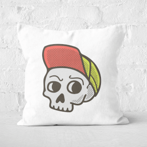 Baseball Cap Skull Square Cushion