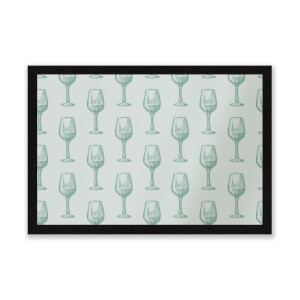 Wine Glass Pattern Entrance Mat