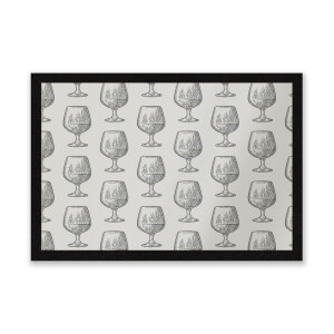 Whisky Glass Pattern Entrance Mat