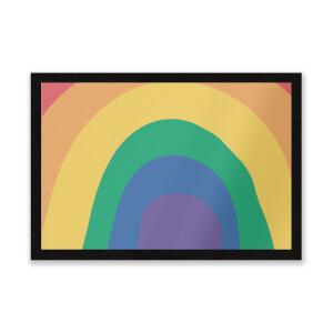 Close Up Rainbow Entrance Mat