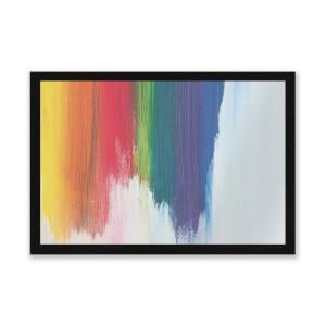 Rainbow Smudge Entrance Mat
