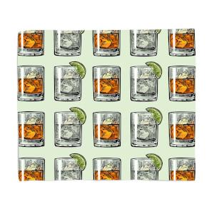 Whisky And Vodka Fleece Blanket